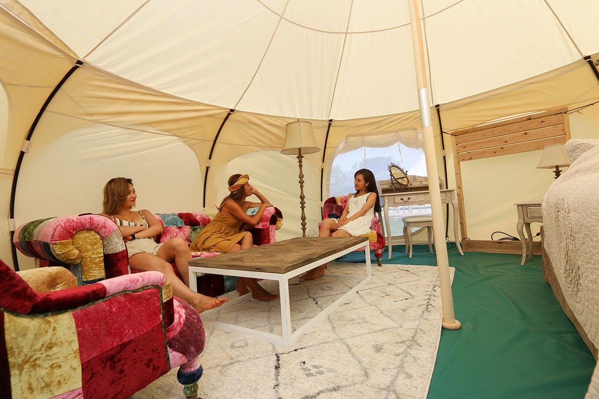 宿泊グランピングテント